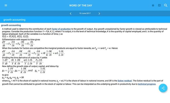 Oxford Dictionary of Economics apk screenshot