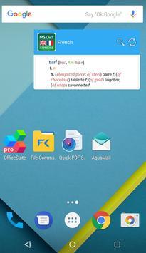 Dictionary English<>French apk screenshot