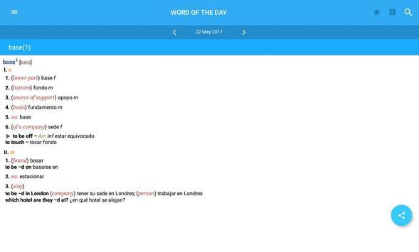 Dictionary English<>Spanish screenshot 8