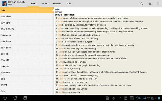 Catalan<>English Dictionary apk screenshot