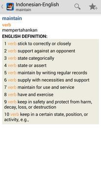 Indonesian<>English Dictionary apk screenshot