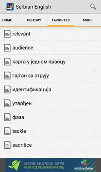 Serbian<>English Dictionary apk screenshot