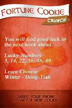 Fortune Cookie Crunch screenshot 1
