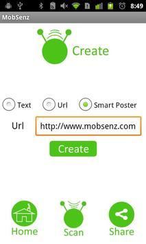 mobSenz TagShare screenshot 2