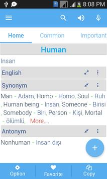 Turkish Dictionary apk screenshot