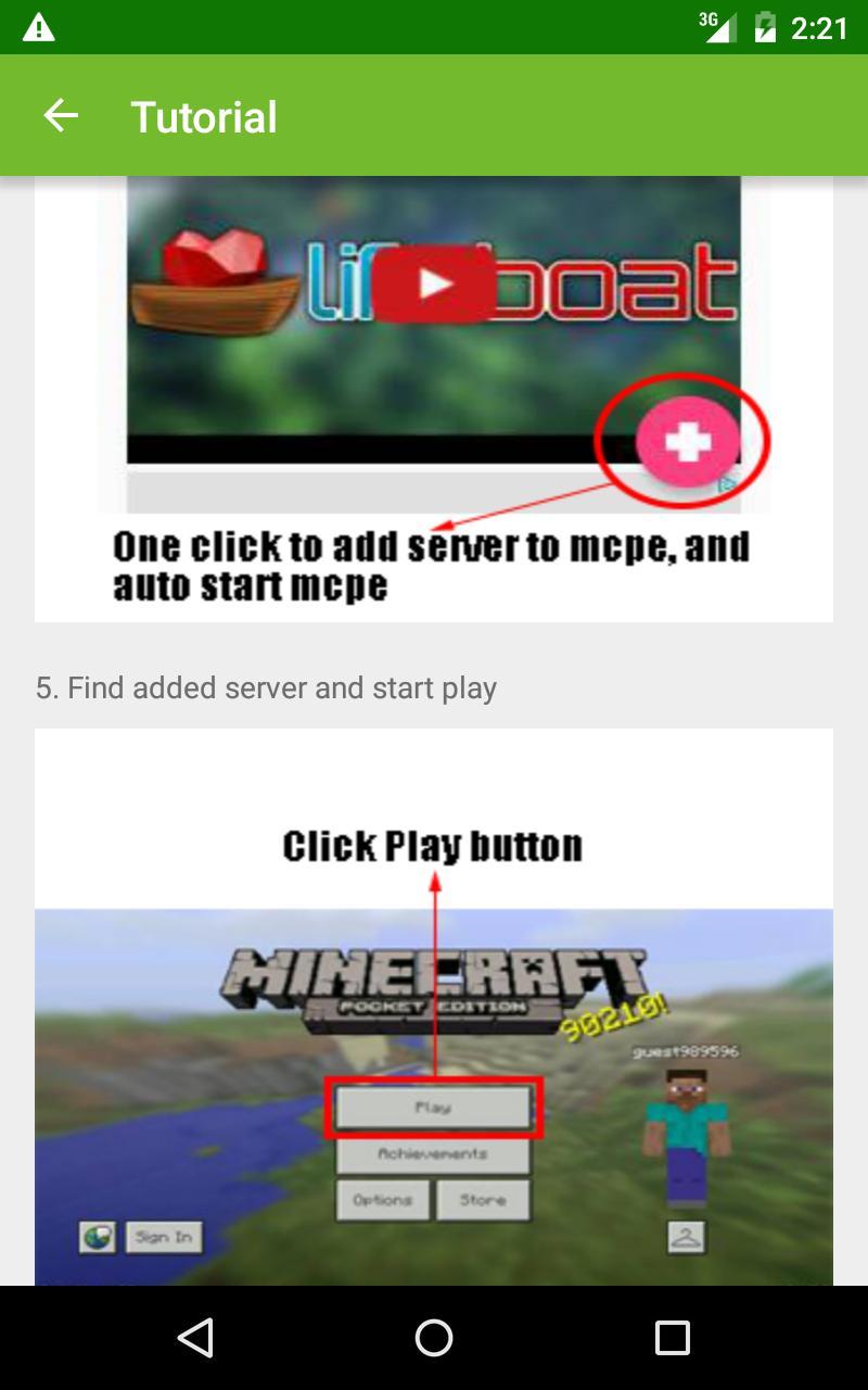Cool Server List For Minecraft para Android - APK Baixar