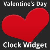 Valentine's Day Clock Widget icon