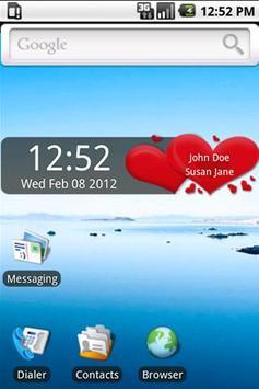 Valentine's Day Clock Widget poster