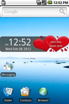 Valentine's Day Clock Widget apk screenshot