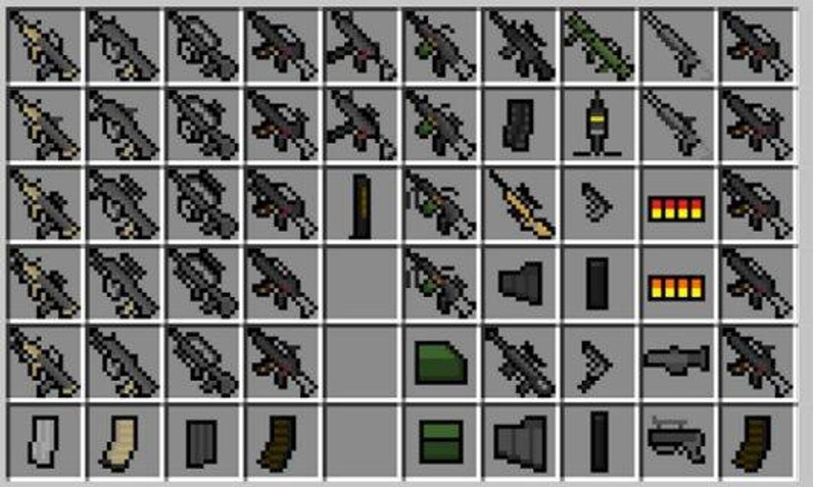 мод на майнкрафт 1.8.8 на оружие #1