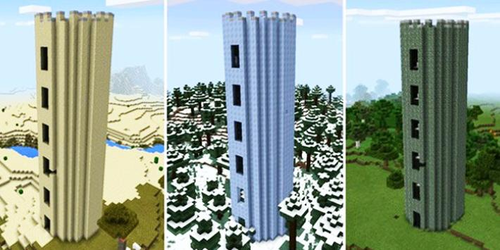Battle Tower mod for Minecraft poster