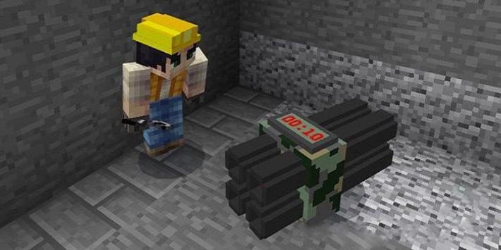 C4 Bombs Mod for MCPE poster