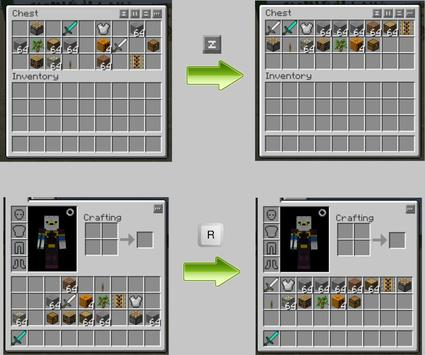 Inventory Tweaks Mod for MCPE apk screenshot
