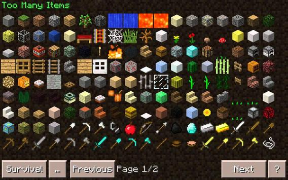 Mod Many Items for MCPE poster
