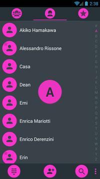 Dialer theme Droid L Pink screenshot 1