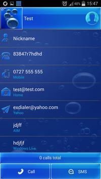 Blue HD Dialer Theme screenshot 5