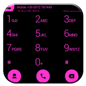 Dialer Flat Black Pink Theme icon