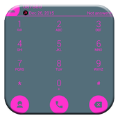 Dialer theme Flat Pink Grey icon