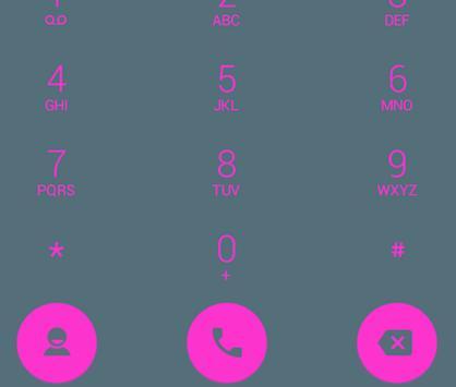 Dialer theme Flat Pink Grey apk screenshot
