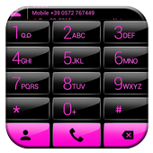 Dialer Gloss Black Pink Theme icon