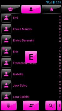 Dialer Gloss Black Pink Theme apk screenshot