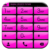 Dialer Gloss Pink Theme icon