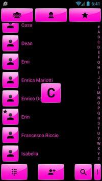 Dialer Gloss Pink Theme screenshot 1