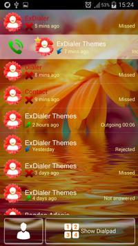 Flower Dialer Theme apk screenshot