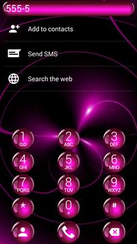 Dialer Spheres Pink Theme apk screenshot