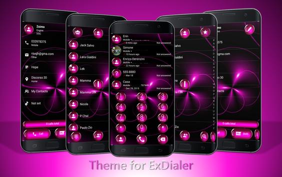 Dialer Spheres Pink Theme poster