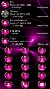 Dialer Spheres Pink Theme apk screenshot