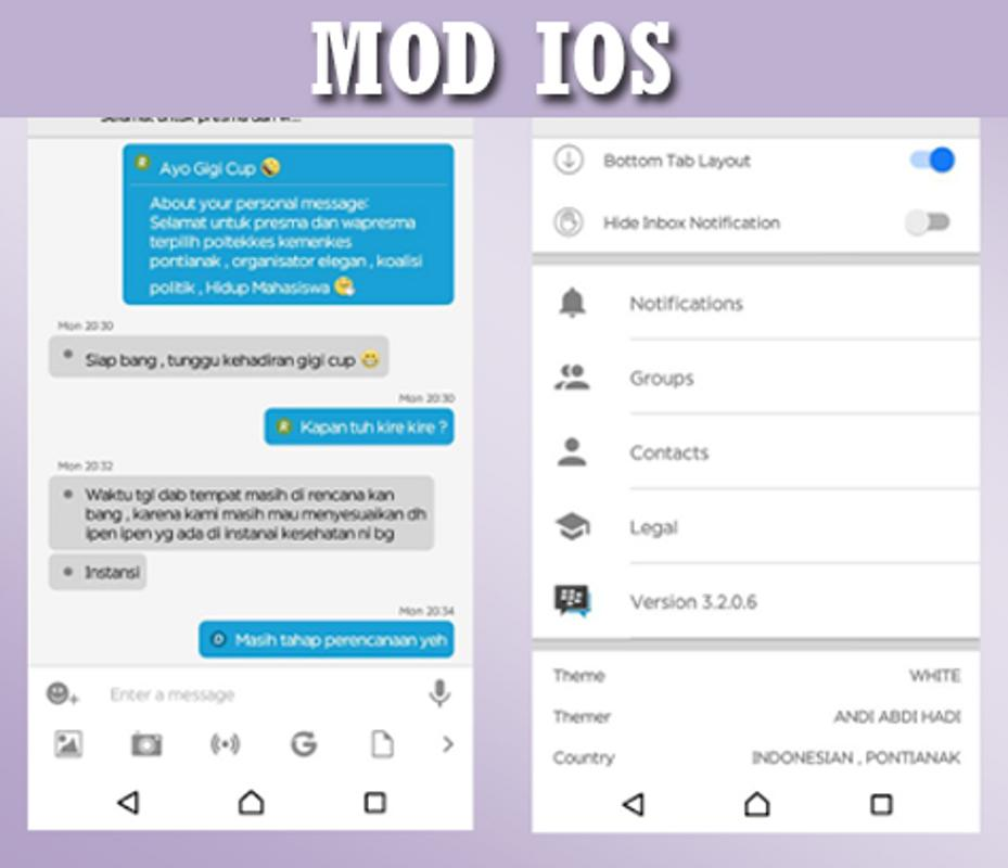 Delta Bbm Mod Ios Clone For Android Apk Download