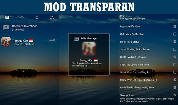 Bbm Mod Transparan Clone For Android Apk Download