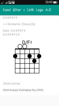 Kunci Gitar + Lirik Lagu A-Z apk screenshot