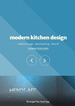 modern kitchen design poster