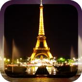 Night Paris Lights LWP icon