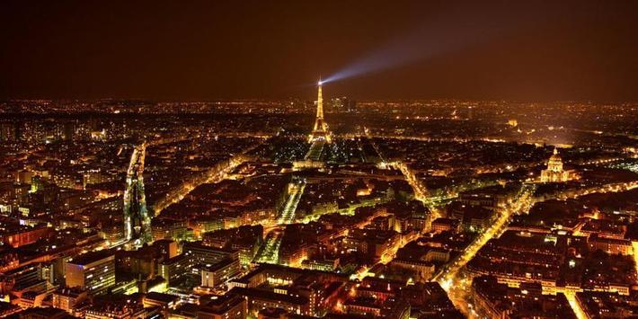 Night Paris Lights LWP screenshot 1