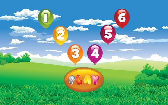Number Balloon Pop poster