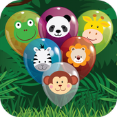 Animal Balloon Pop for Babies icon