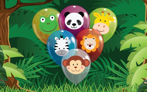 Animal Balloon Pop for Babies poster