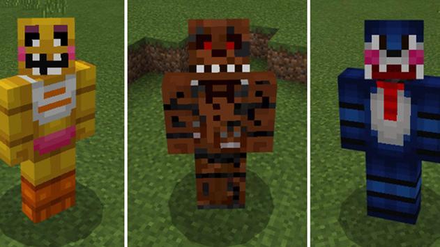 Freddy's Mod FNAF for Minecraft Pocket Edition poster
