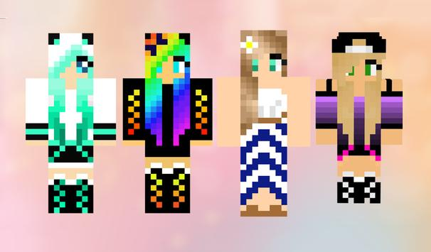 Girls skins for minecraft pe for android apk download - Cool girl skins for minecraft pe ...