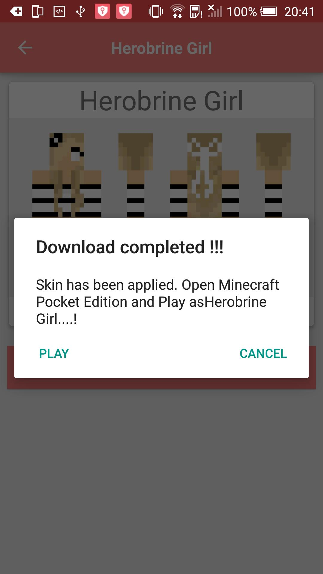 download skin minecraft pocket edition android
