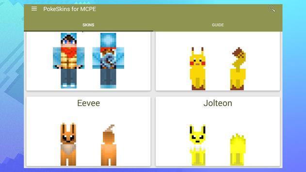 Skins For Minecraft Pokemon Descarga APK Gratis Entretenimiento - Skins para minecraft pe de pokemon