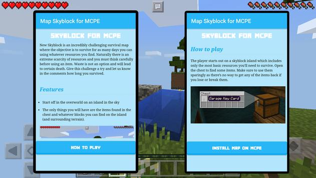 Map Skyblocks for MCPE poster