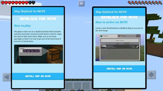 Map Skyblocks for MCPE apk screenshot