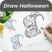 learn to draw Halloween character icon