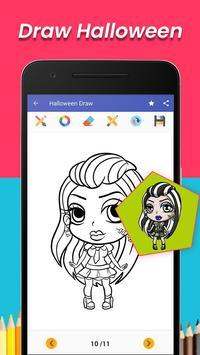 learn to draw Halloween character apk screenshot