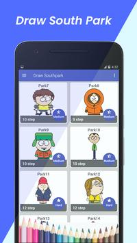 learn to draw south park characters step by step poster
