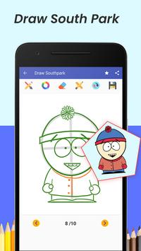 learn to draw south park characters step by step screenshot 1